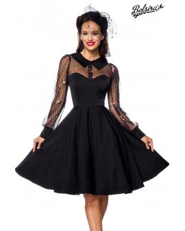Vintage Kleid mit transparentem Oberteil schwarz von Belsira