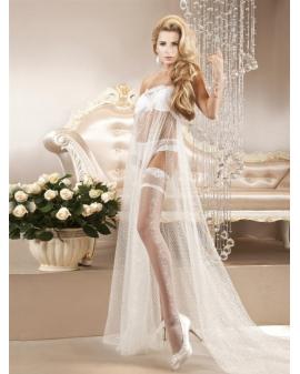 Ballerina Art. 121 weiß halterlose Strümpfe 20den