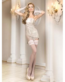 Ballerina Art. 700 weiß halterlose Strümpfe 20DEN Lulu