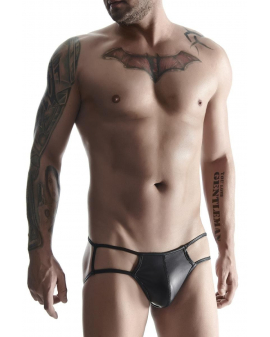 Wetlook Jock Slip schwarz von Regnes Fetish Planet - BRI001