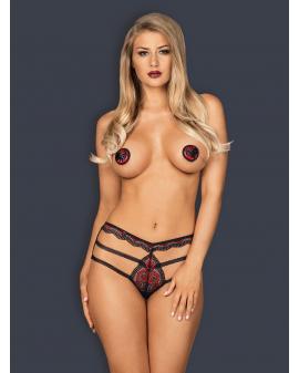 "Nipple Covers ""Megies"" schwarz rot von Obsessive"