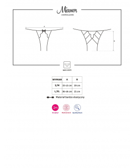"Crotchless Panties ""Miamor"" schwarz von Obsessive"