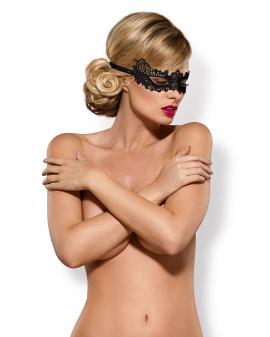 """Guipure-Maske """"A701"""" schwarz von Obsessive"""