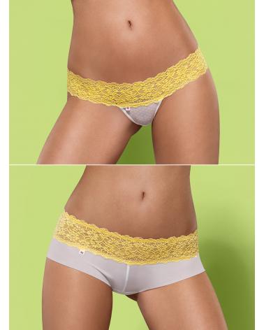 """Duo-Pack """"Lacea"""" Shorty und String gelb von Obsessive"""