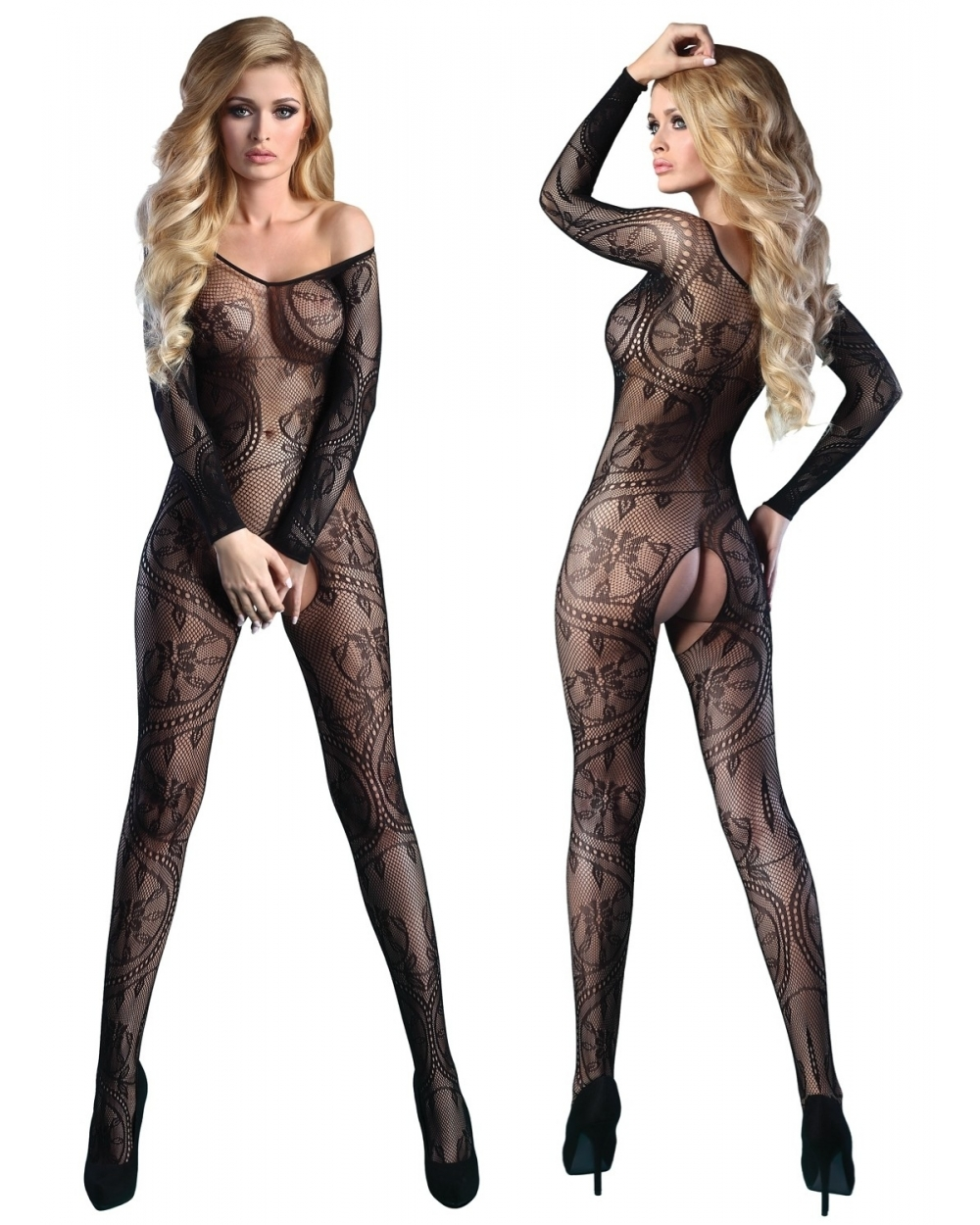 Bodystocking Abra Black LC 17086