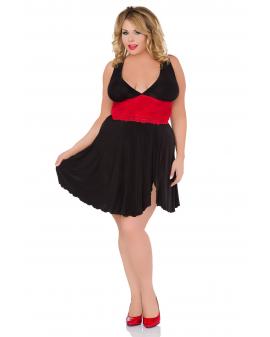 """Kleid """"Z/5036"""" schwarz/rot von Andalea"""