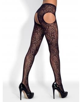 "Garter Stockings ""S208"" in schwarz"