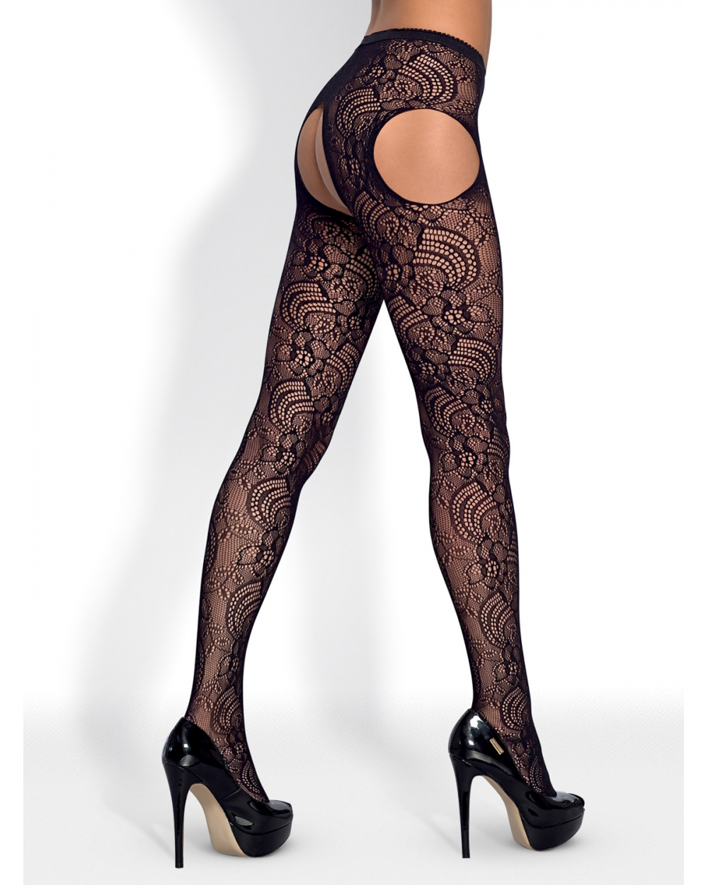 "Garter Stockings ""S208"" in schwarz"