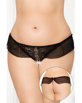 schwarzer G-String ouvert 2437 von Softline Plus Size Collection