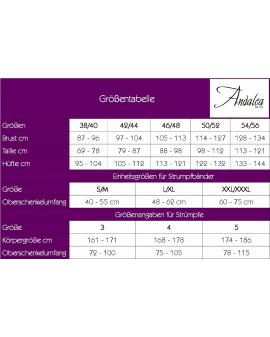 Plus Size Strümpfe ST/04/1 weiß von Andalea