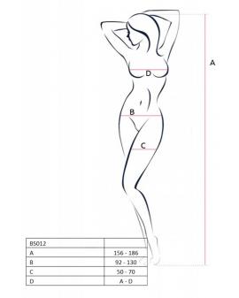 Bodystocking BS012 schwarz von Passion