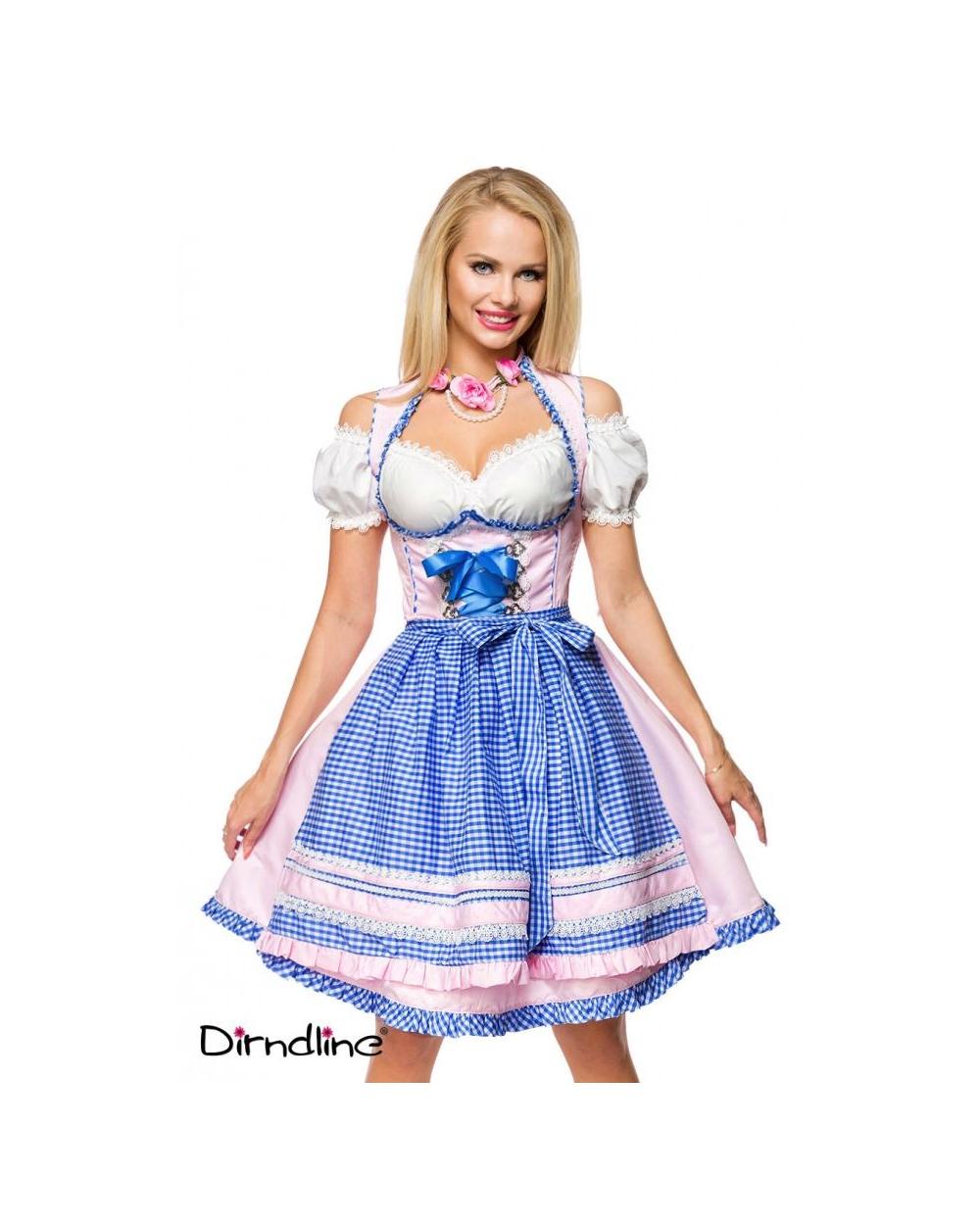DIRNDL SET TRACHTENKLEID SCHWARZ ROSA PINK Wiesn 34 36 38 40 42 Oktoberfest
