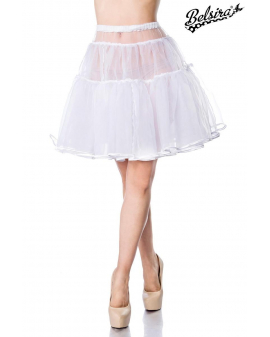 Oktoberfest Wiesn Dirndl Petticoat weiß von Belsira