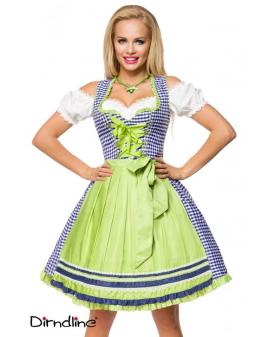 Oktoberfest Wiesn Traditionelles Karo-Dirndl blau weiß grün Dirndline