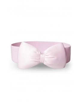 Vintage Schleifengürtel rosa mit Satin-Schleife