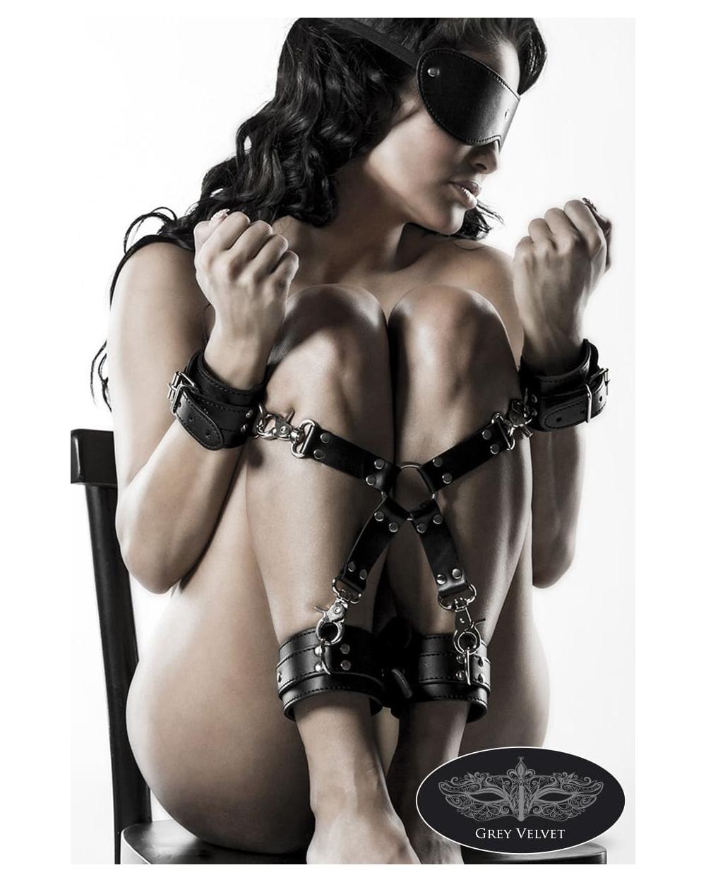 5-teiliges Bondage-Set aus Kunstleder von Grey Velvet