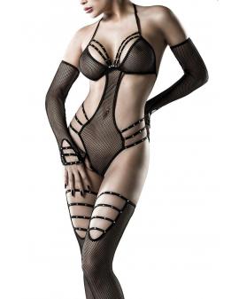 5-teiliges Netz-Body-Set schwarz von Grey Velvet