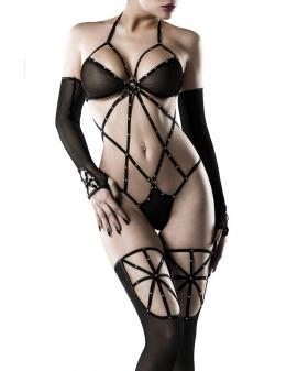 5-teiliges Nylon-Body-Set schwarz von Grey Velvet
