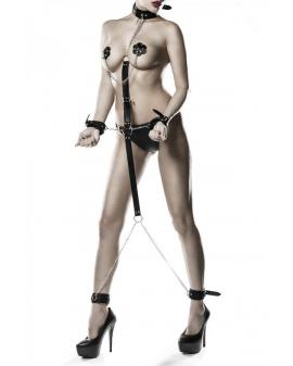 6-teiliges Kunstleder Bondage-Set von Grey Velvet