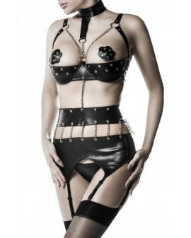 3-teiliges Kunstleder Ketten-Body-Set von Grey Velvet