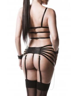 4-teiliges Straps-Bandage-Set schwarz von Grey Velvet