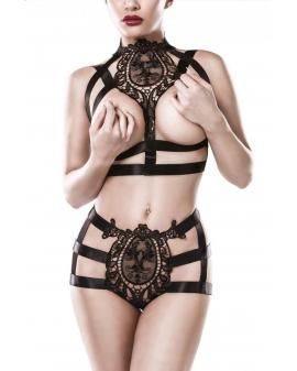 2-teiliges Harness-Set schwarz von Grey Velvet