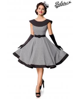 Premium Vintage Swing-Kleid schwarz weiß von Belsira
