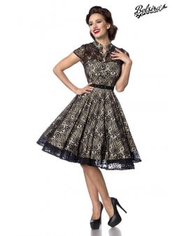 Belsira Vintage Spitzenkleid schwarz creme