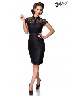 Belsira Vintage Spitzenkleid schwarz